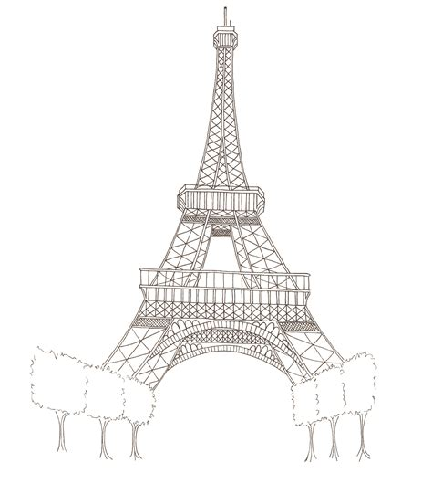 Fun 2 Draw Eiffel Tower Coloring Pages Coloring Pages