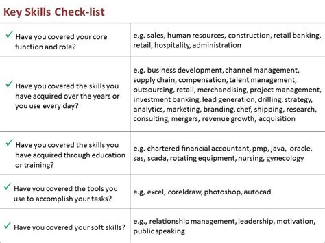 what to write in key skills in resume resume ideas
