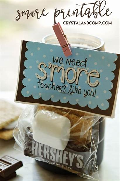 Teacher Printable Gift Gifts Smore Appreciation Teachers