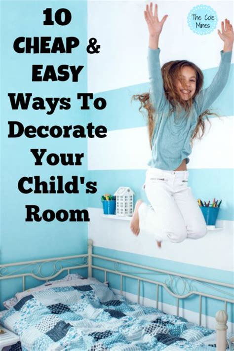 cheap  easy ways  decorate  childs room kid