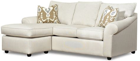 Sofa With Reversible Chaise Lounge By Klaussner  Wolf And