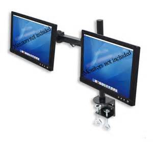 dual lcd monitor stand desk cl holds up to 24 lcd