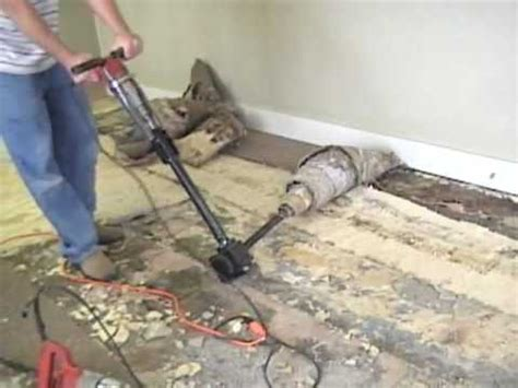 Glue Down Carpet Removal Machine by Bad Glued Carpet Takeup Made Easy Using Ripper Wmv Youtube