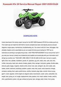 Kawasaki Kfx 50 Service Manual Repair 2007 20 By