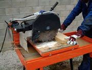 masonry bench saw 350mm for hire in chichester