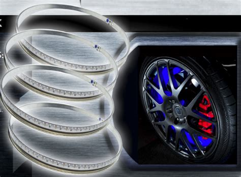 oracle wheel lights oracle lighting led wheel light rings set of 4 led