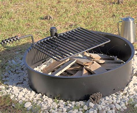 32″ Steel Fire Ring With Cooking Grate Campfire Pit Park Sharpening Kitchen Knives Ikea Installation Cost Custom Island Ideas Drawings What Is A Country Panda And Bath California Pizza Bridgewater Nj Prestige Smart