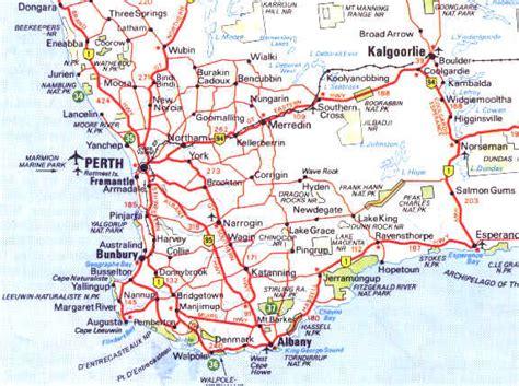 western australia road maps  travel information