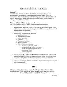 resume writing activity high school students high school resumes for college applications resume