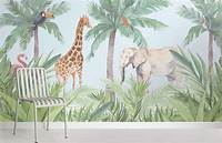 trending jungle wall mural Watercolour Jungle Nursery Wall Mural | Murals Wallpaper