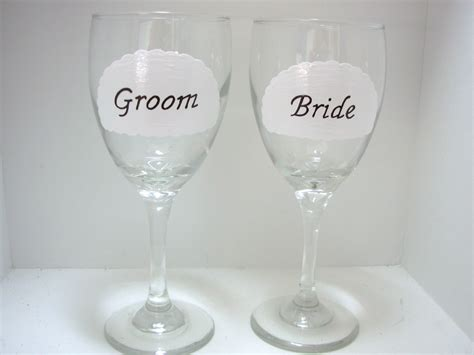 Bride And Groom Wine Glass Handpainted Personalized On Luulla