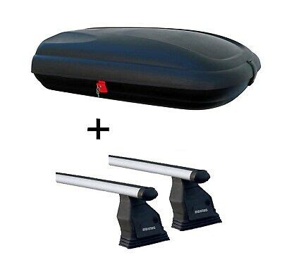 Made of light yet durable thermoplastic, it features a security lock and opens on both sides via gas struts. Roof Box VDPBA320 320L Carbon-Look + Bars Tema For ...