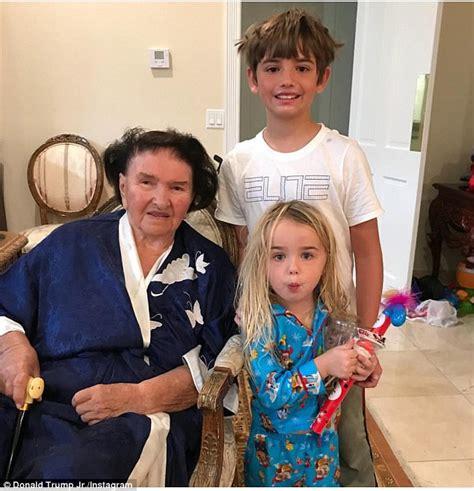trump ivana melania marie mother christmas grandmother jr president ivanka selfie don donald children grandchildren holiday grandkids kai santa spend