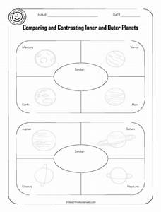 Comparing Planets Worksheet - Pics about space