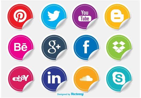Social Media Icons Vector 54 Beautiful Free Social Media Icon Sets For Your Website