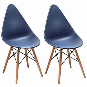 Chaise Bleu Marine : chaise scandinave bleu marine drop lot de 2 pier import ~ Teatrodelosmanantiales.com Idées de Décoration