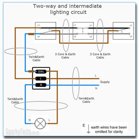 two way and intermediate lighting circuit wiring am2
