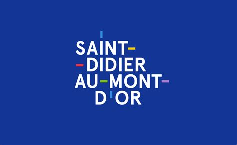 st au mont d or visual identity for the city of didier au mont d or