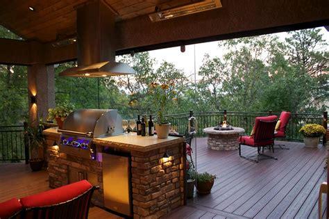 deck fire pit  outdoor kitchen deck fire pit