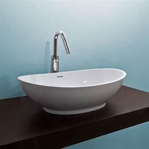 Luna Wash Basin - White Stone Resin