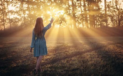 girl   morning feeling  sunlight  fairy