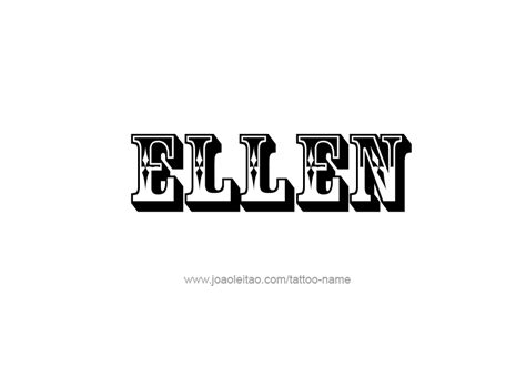ellen  tattoo designs