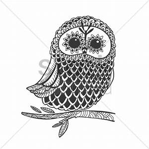 Intricate owl design Vector Image - 1544172 | StockUnlimited