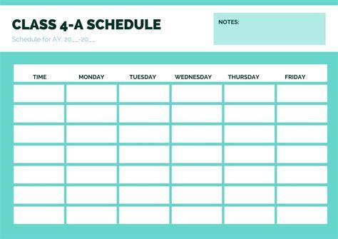 class schedules design  custom class
