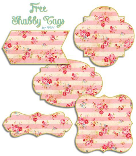shabby floral printable tags  pretty
