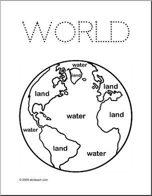 coloring page land  water abcteach
