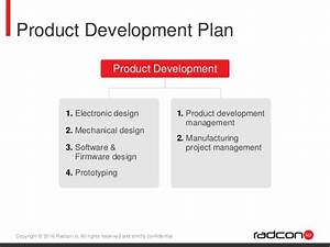 radconio electronic and iot product design and development With product development proposal template
