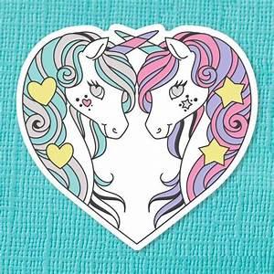 Unicorn Sisters sticker – Nook & Burrow