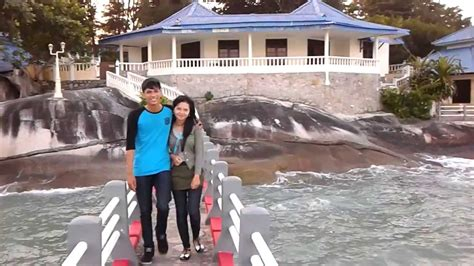 pantai pesona pulau bangka bangka belitung indonesia