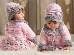 Modern Baby Set with Sweater - Crochet Free Pattern