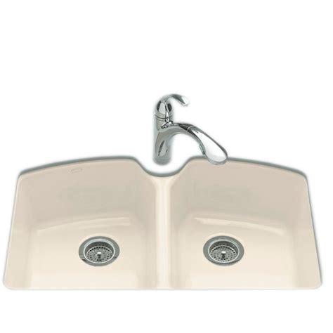 kohler kitchen sinks home depot kohler tanager undermount cast iron 33 in 3 8818