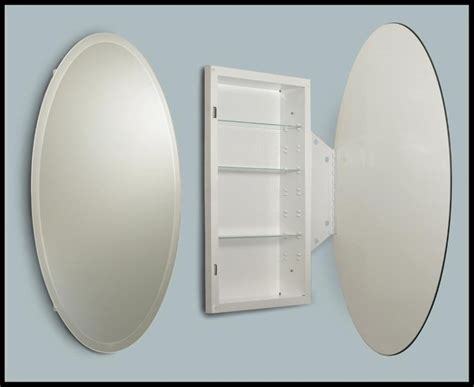 Oval Recessed Medicine Cabinet by Beveled Oval Medicine Cabinet Medicine Cabinets