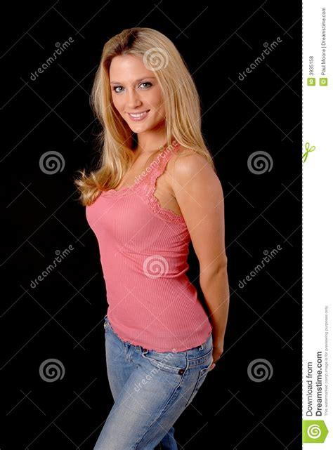 Lovely Blond Girl Stock Photo Image Of Refreshing