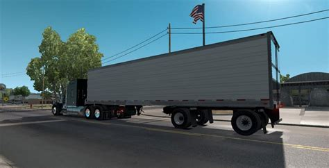 spread axle reefer trailer american truck simulator mod