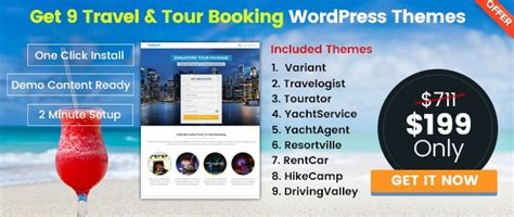 15+ Best Travel & Tour Booking Wordpress Themes
