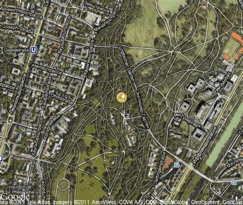 Englischer Garten Munich Map by 英国花园 视频 地标 卫星地图 慕尼黑 德国 Tours Tv
