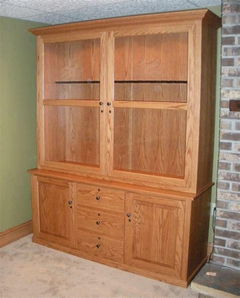 Kitchen Cabinet Stain Ideas - custom oak gun cabinet country lane furniture
