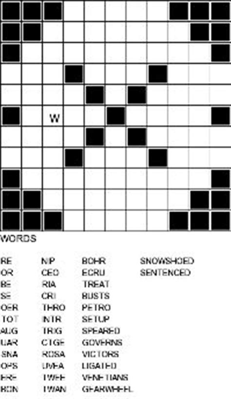 Crossword Fill In Puzzles - Printable Vocabulary Builders