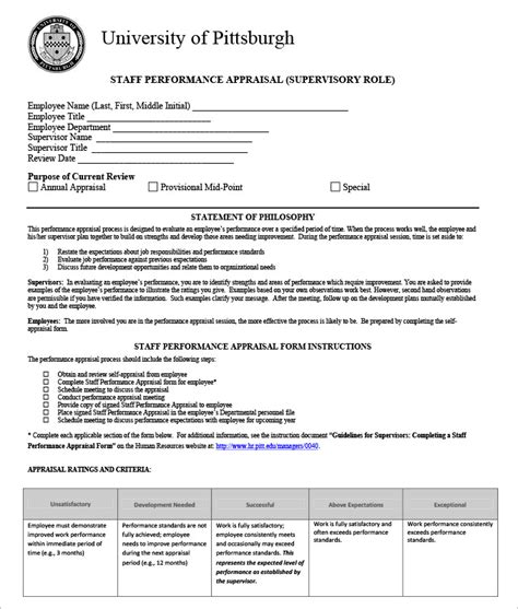 Free Sle Form Of Resume by Staff Appraisal Templates 28 Images Employee