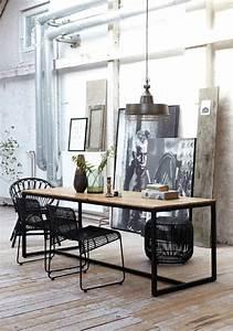 Chaise Noire Salle A Manger : chaise de salle manger en style industriel ~ Teatrodelosmanantiales.com Idées de Décoration