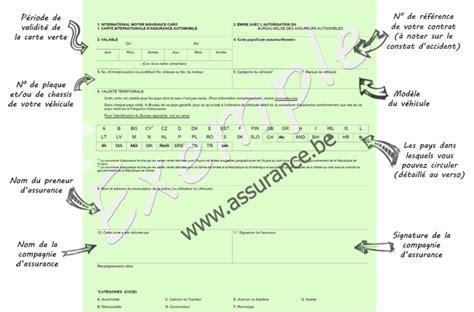 numero de carte verte la carte verte certificat d assurance assurance belgique