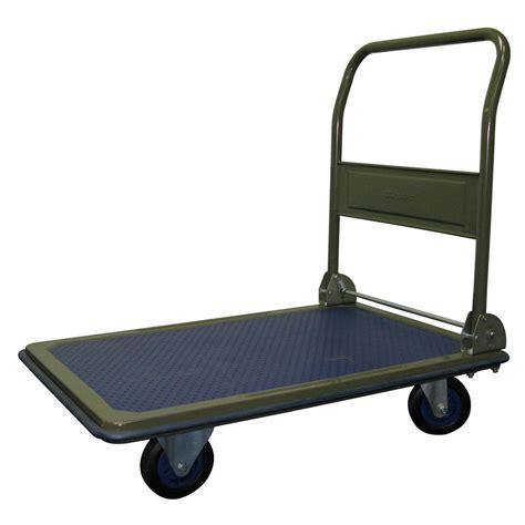 Super Small Kitchen Ideas - olympia heavy duty 600 lb capacity folding platform cart 85 182 the home depot