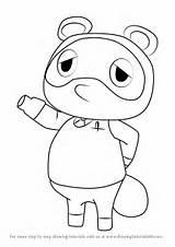 Nook Crossing Tom Animal Draw Drawing Step Tutorial sketch template