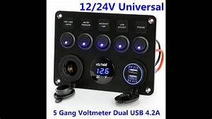 Wiring Diagram Voltmeter Usb Port Switch Rv