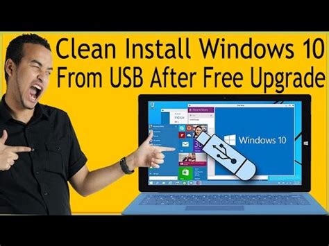 how to clean install windows 10 from usb after free upgrade how to use media creation tool to