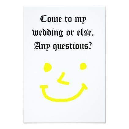 wedding   funny joke invitation